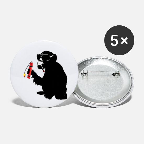 New Buttons - explosive monkey - Small Buttons white