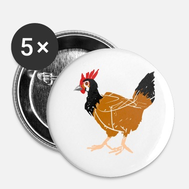 Poule poule - Badge petit 25 mm
