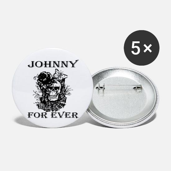 Johnny Badges - Johnny for ever - Petits badges blanc
