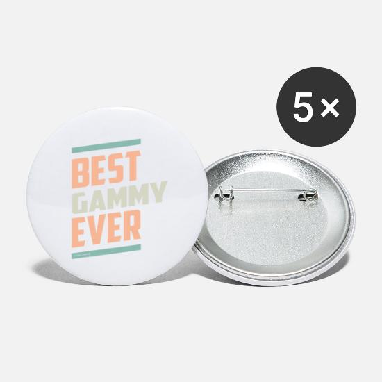 Grandma Buttons - Best Gammy Tees - Small Buttons white