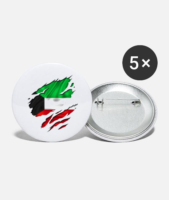 Designs Guinea Visit Wear Logo Nation With African Buttons - koweit koweït kuwait - Small Buttons white