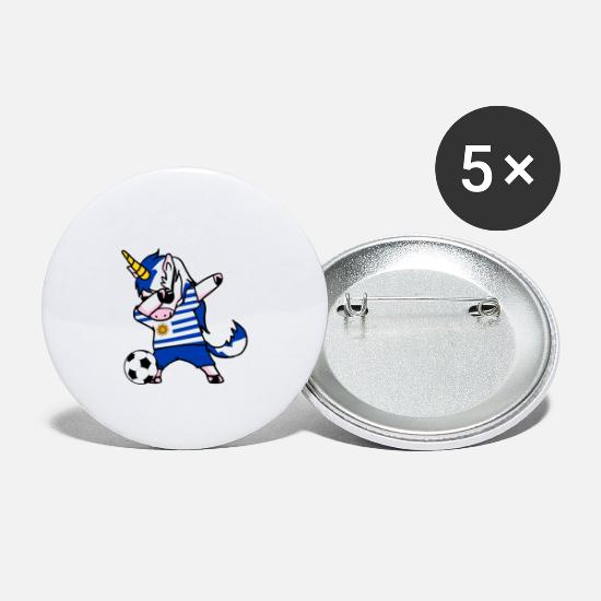 National Team Buttons - Uruguay national team Dab unicorn - Small Buttons white