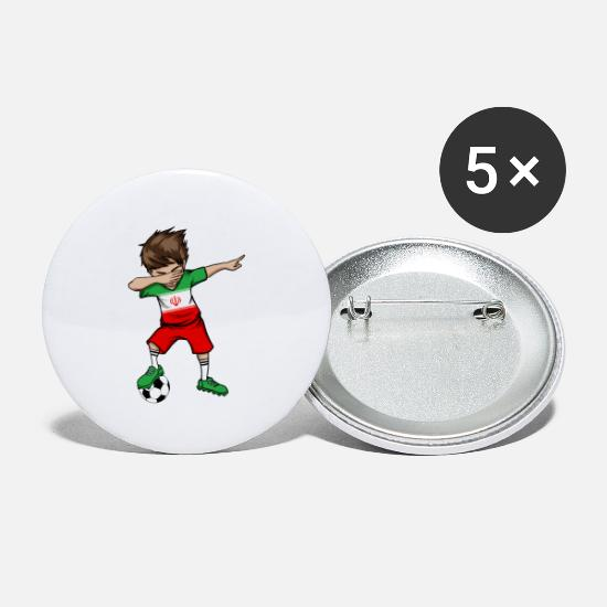 National Team Buttons - Iran Football National Team World Cup Dab - Small Buttons white