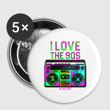 I LOVE 90S - Buttons klein 25 mm