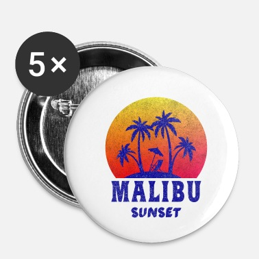 Malibu Malibu Sunset / California / Regalo / Retro - Spilla piccola 25 mm