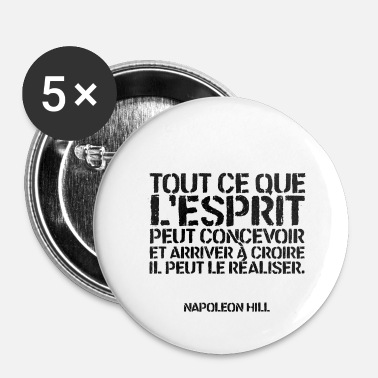 Citations Citation - Napoleon Hill - Badge petit 25 mm