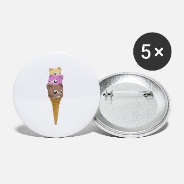 Food Collection V2 Cats ice cream - Small Buttons