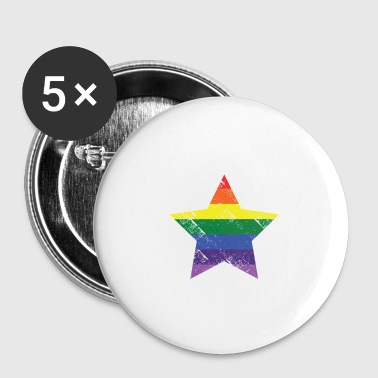 Christopher street day Stern - Buttons klein 25 mm