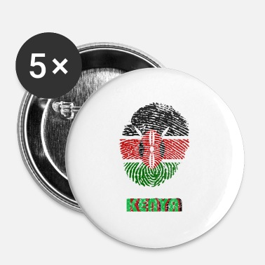 Kenya KENYA, KENYA DNA FINGERPRINT - Buttons small 25 mm