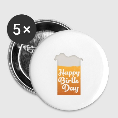 Happy Birthday-bier - Buttons klein 25 mm
