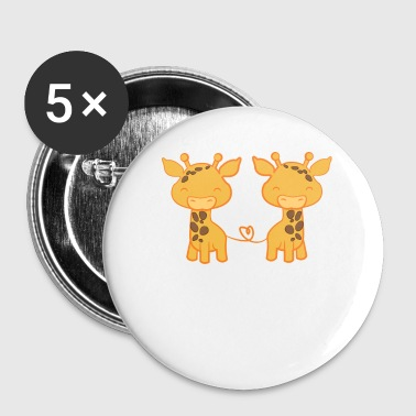 Girafe - Girafes - Girafe fan - Amour girafe - Badge petit 25 mm