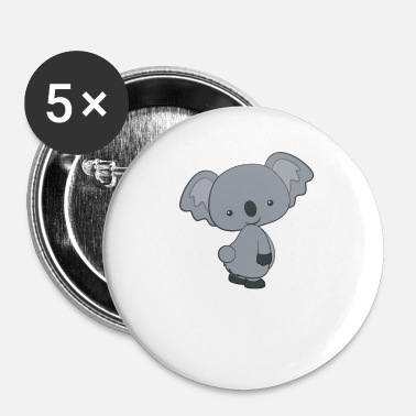 Fourrure Koala - Koalas - Koala T-Shirt - Fourrure - Fourrure - Badge petit 25 mm