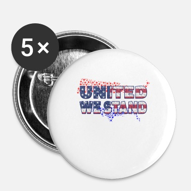 United United står vi !! - Buttons/Badges lille, 25 mm