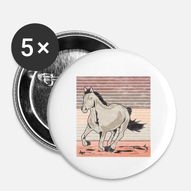 Galop Horse galop Used look retro - Buttons klein 25 mm (5-pack)