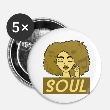 Afro Afro soul - Badge petit 25 mm