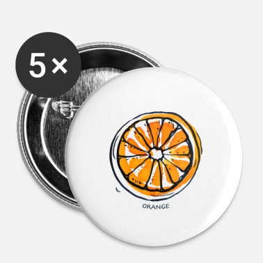 Frugt Orange Frugt Frugt Frugt - Buttons/Badges lille, 25 mm