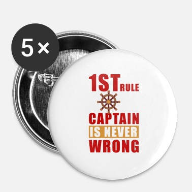 Capitaine capitaine - Badge petit 25 mm
