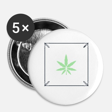 Cannabis CANNABIS - Buttons klein 25 mm (5-pack)