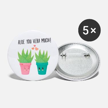 Sanonta Aloe You Vera Much - Cute Love Couple Gift Idea - Rintamerkit pienet