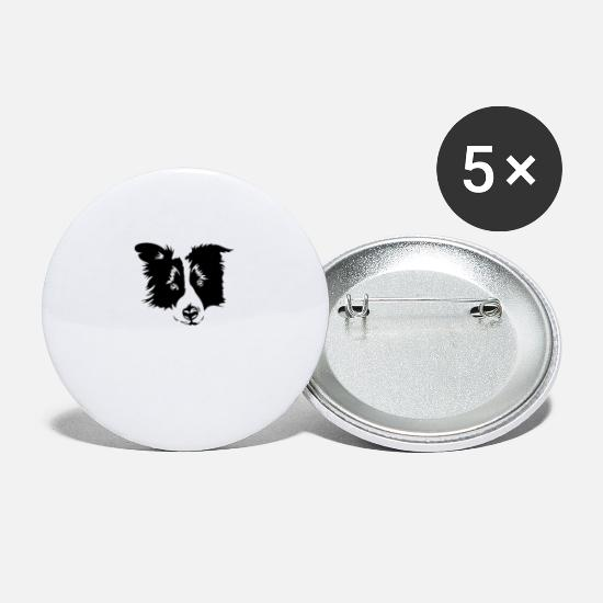 Gift Idea Buttons - Border Collie - Small Buttons white