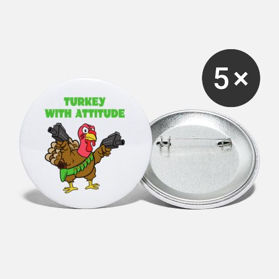 Turkey Buttons - Turkey With Attitude turkey turkey - Small Buttons white