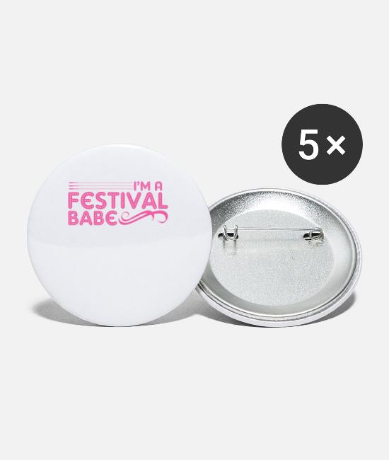 Girlfriend Buttons - festival - Small Buttons white