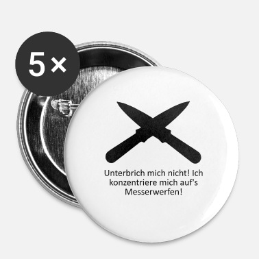 Kaste kniv kaste - Buttons/Badges lille, 25 mm