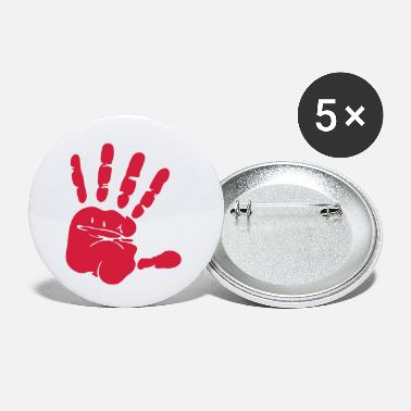 Hand fingerprint crime scene design as a vector graphic - Small Buttons