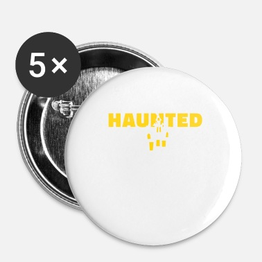House Haunted House Haunted House Haunted House Halloween - Buttons/Badges lille, 25 mm