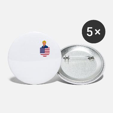 Democrat Democratic Clinton in a Stars and Stripes Pocket - Small Buttons