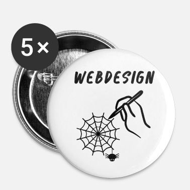 Web web Design - Buttons klein 25 mm (5-pack)