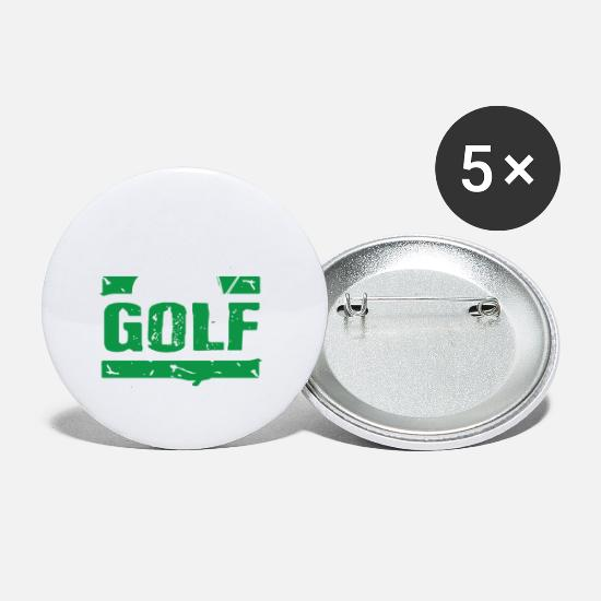 Gift Idea Buttons - Golf Champion - Small Buttons white