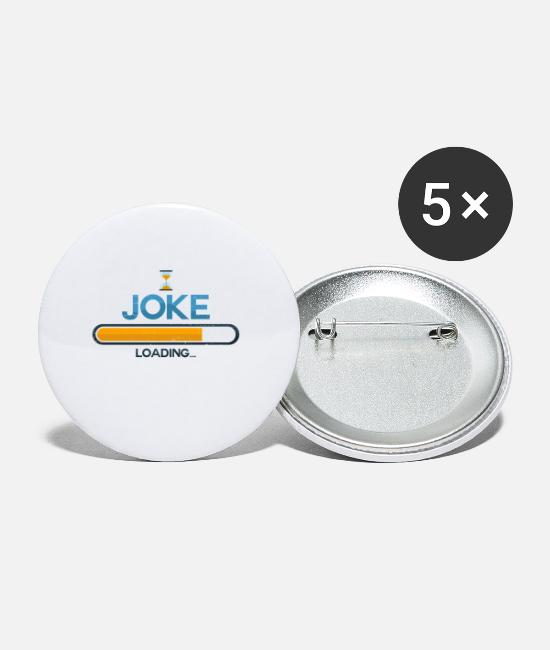 Typography Buttons - Joke - Small Buttons white
