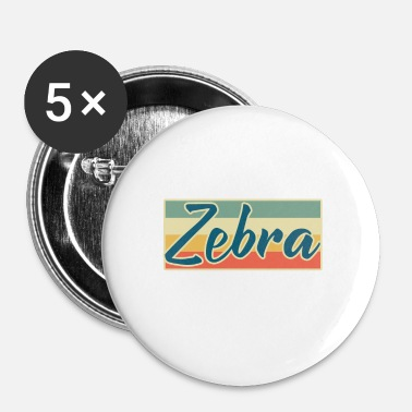 Zebra zebra - Buttons klein 25 mm (5-pack)
