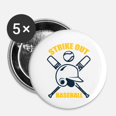 Strike Baseball - Strike Out - Badge petit 25 mm