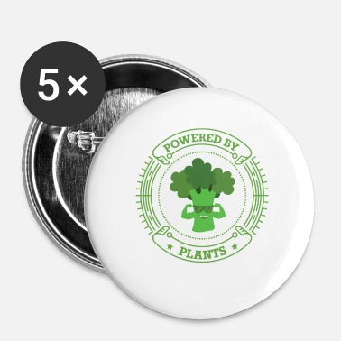 Health Powered By Plants Végétarien Vegan Health - Badge petit 25 mm