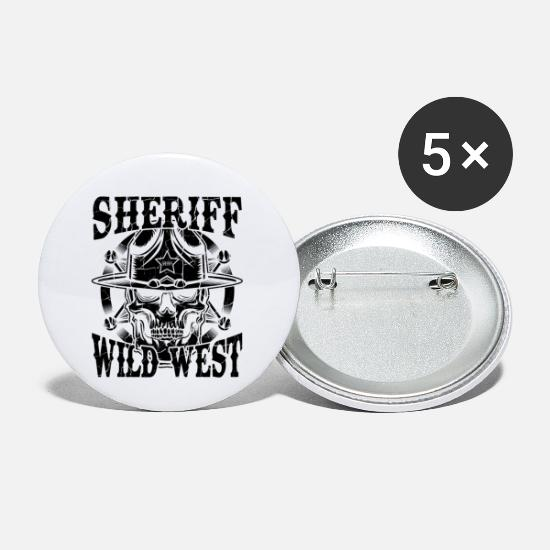 Western Buttons - Cowboy vintage - Small Buttons white