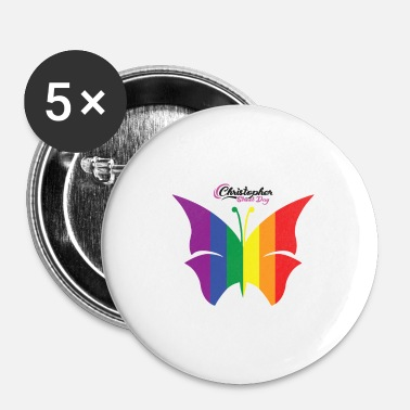 Christopher Street Day LGBT Schmetterling Christopher Street Day - Buttons klein 25 mm
