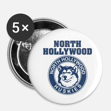 Hollywood Hollywood Graphic North Hollywood Huskies - Chapa pequeña 25 mm