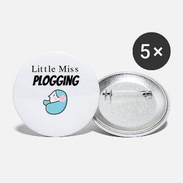 Plogger Little Miss Plogging for Ploggers - Small Buttons