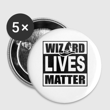 All Lives Matter Wizard Lives Matter Retro Halloween Sorcerer Light - Buttons small 25 mm