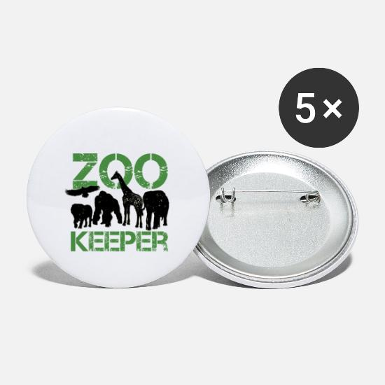 Zoo Buttons & Anstecker - zoo keeper - Buttons klein Weiß