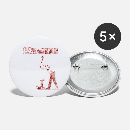 Gruselig Buttons & Anstecker - The undead bloody Halloween - Buttons klein Weiß