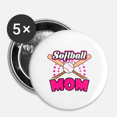 Softboll Softball mamma - Små knappar 25 mm