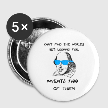 Shakespeare Funny Shakespeare Meme - Buttons small 25 mm
