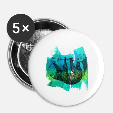 Sloth Sloth sloth sloths sloth sloth T Shirt - Buttons small 25 mm