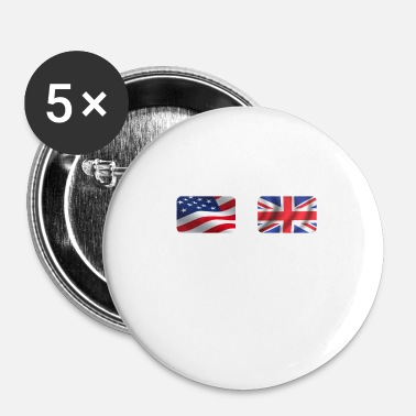 Nottingham Half British Half American Totally Awesome - Buttons small 25 mm