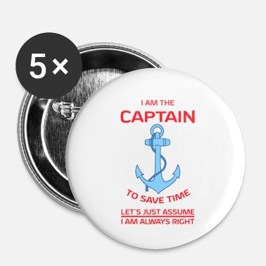 Capitaine Je suis capitaine - Badge petit 25 mm