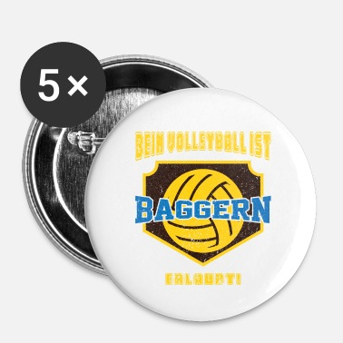 Draguer Drague de volley-ball drole - Badge petit 25 mm