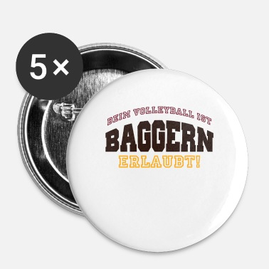 Draguer Draguer sport de volleyball en disant - Badge petit 25 mm